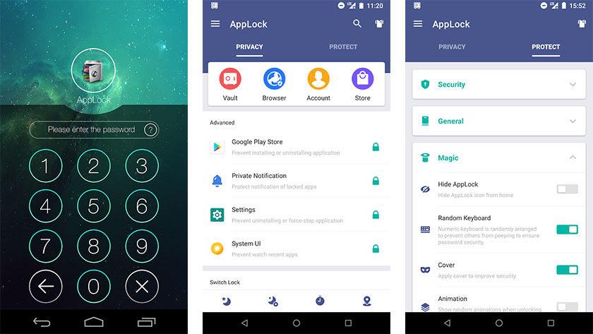 يعد AppLock by DoMobile Lab أحد أفضل تطبيقات الأمان لنظام Android