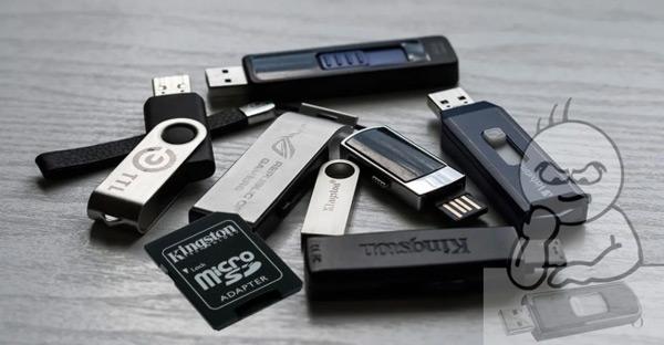 تحقق من حالة بطاقات الذاكرة ومحركات أقراص USB