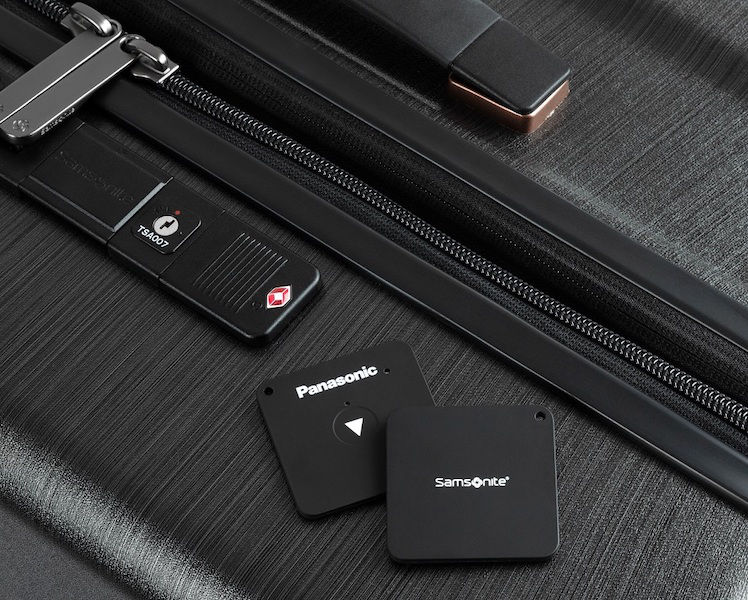 أعلن حقيبة سامسونايت EVOA Tech الذكية مع Pansonic Seekit Bluetooth tracker 1