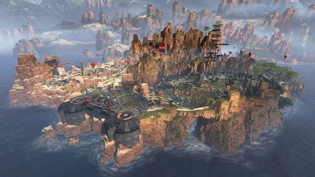 الساحة الفخمة والجميلة في King's Canyon ، موطن 60 لاعبًا إلى جانب مجموعة متنوعة من التنانين المحبوبة للنهب والوحوش الغريبة الكبيرة.
