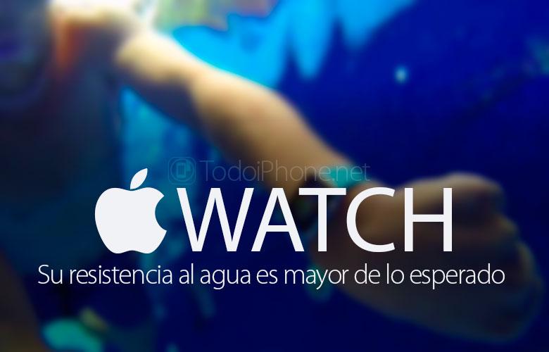 ال Apple Watch يقاوم اختبارات مقاومة الماء الشديد 1