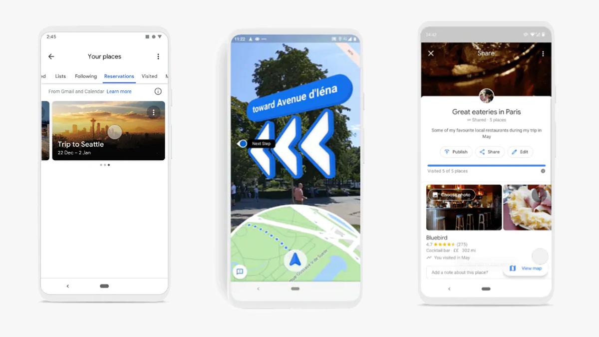"""تقدم خرائط Google علامة تبويب الحجز في قسم """"مكانك"""" 1"""