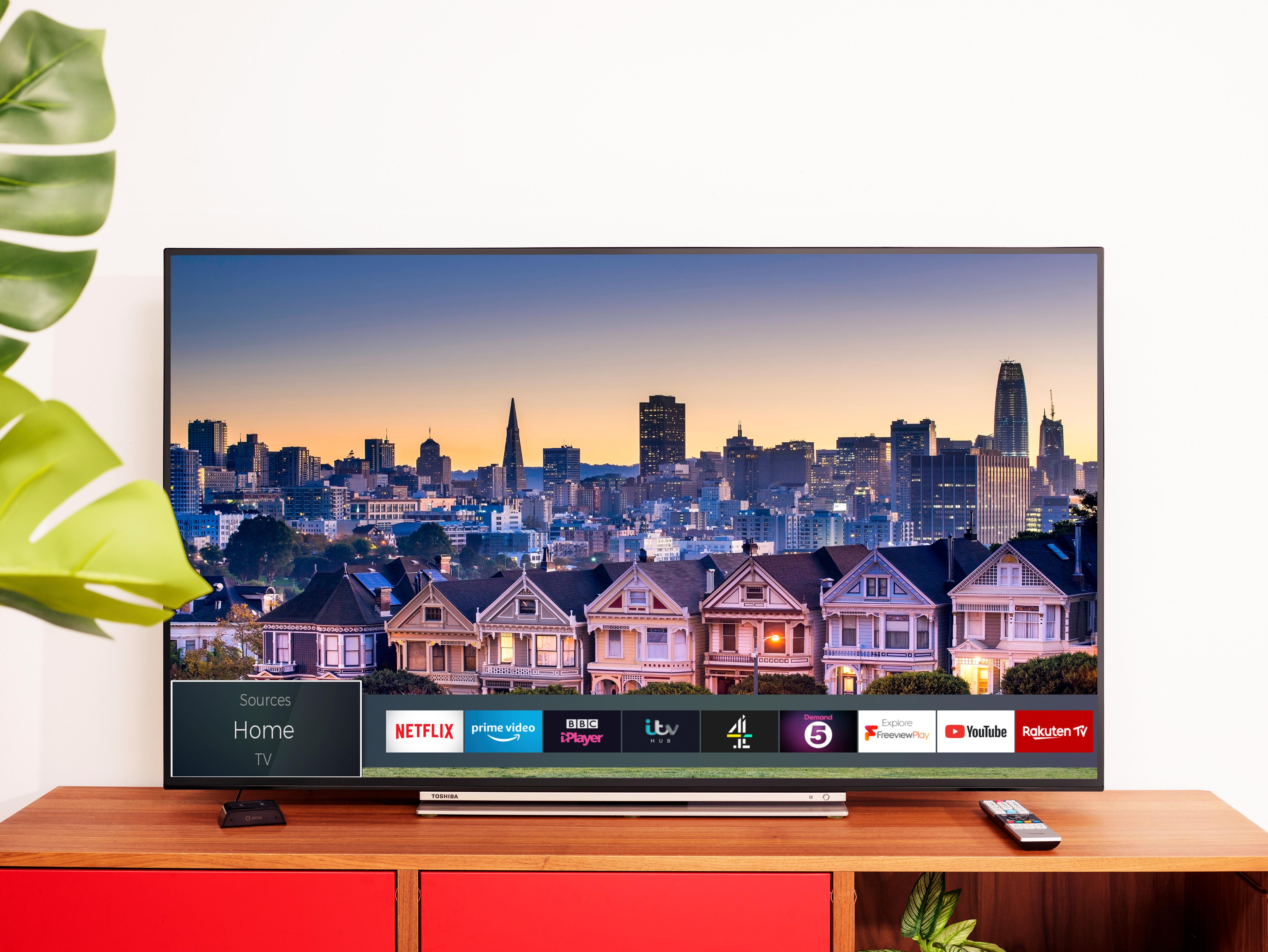 سلسلة توشيبا التلفزيونية الجديدة الرياضية ذات شاشات عالية الدقة 4K HDR