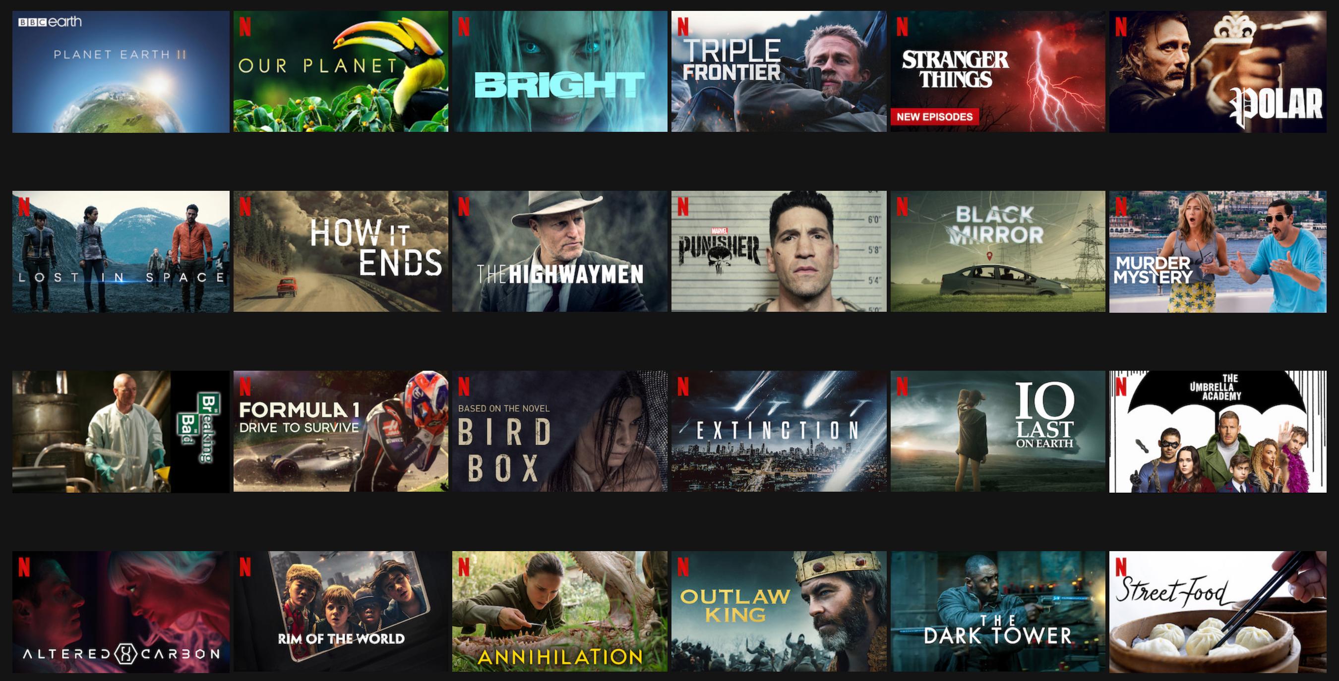 مجموعة مختارة من محتوى 4K المتاحة على Netflix الآن