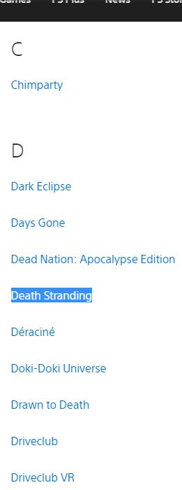 تمت إزالة Death Stranding من قائمة الحصريين الرسمية لـ PlayStation 4 1