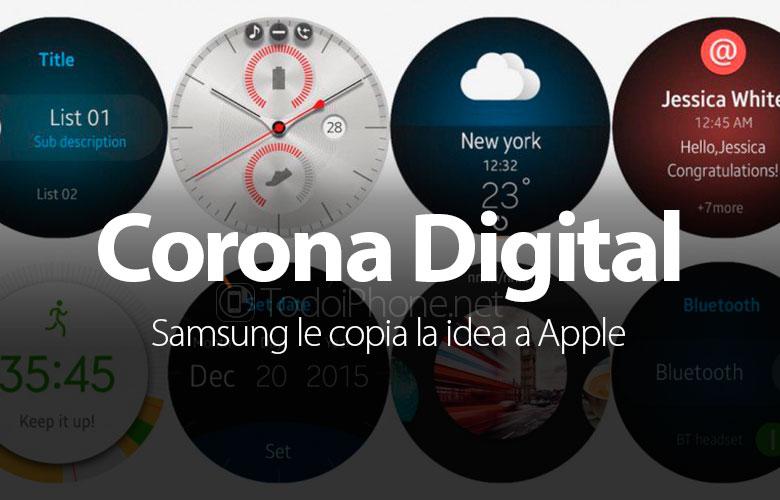 سامسونج نسخ فكرة التاج الرقمي لل Apple Watch 1