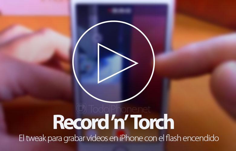 سجّل مقاطع فيديو على iPhone باستخدام الفلاش باستخدام Record 'n' Torch 1