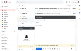 سيخبرك Gmail الآن عندما تكون على وشك الكتابة إلى زميل في العمل خارج المكتب 1