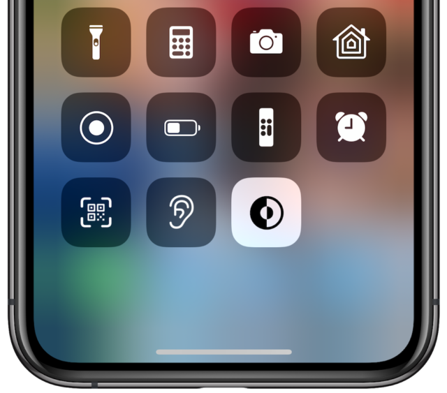 زر الوضع المظلم iOS 13