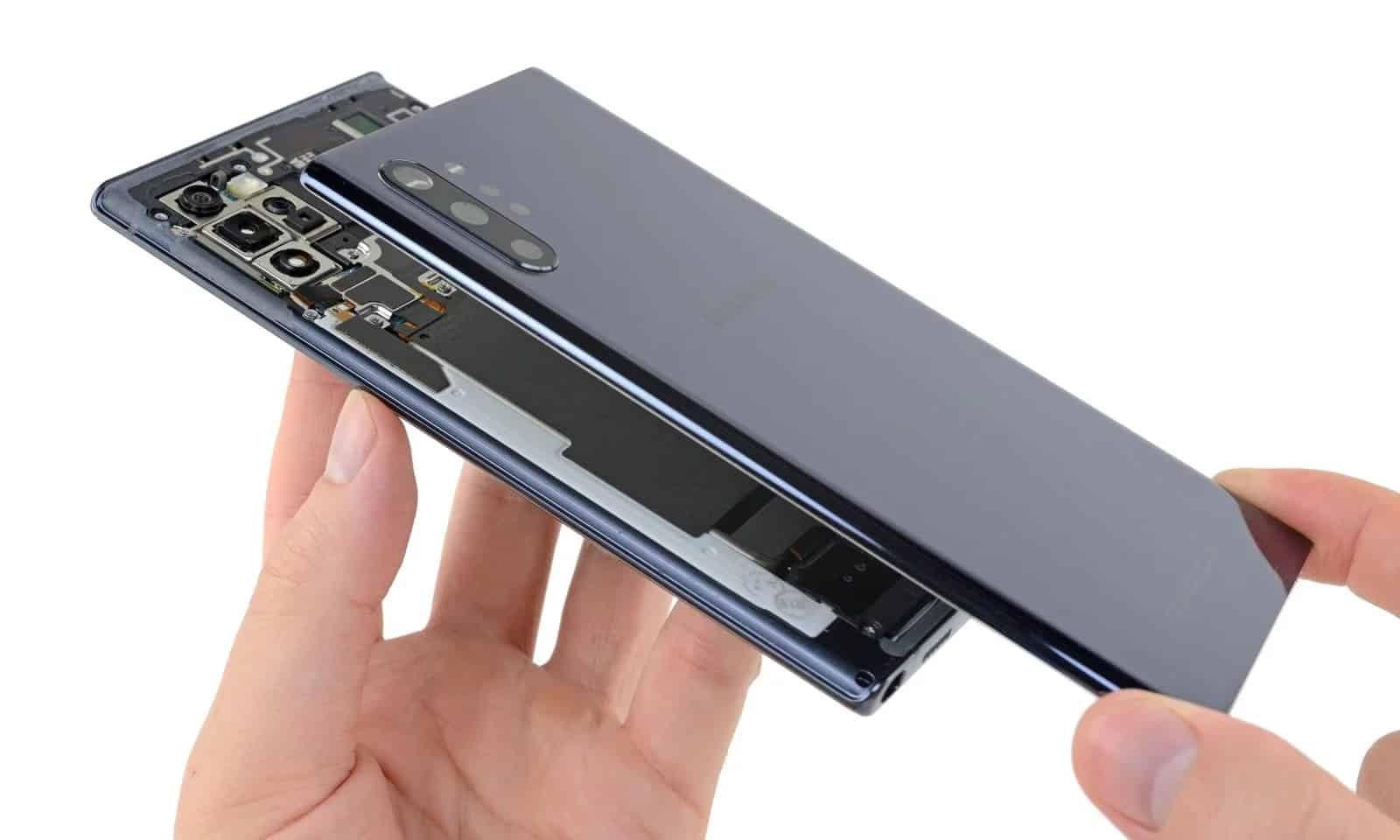 لا تسقط Galaxy Note  10+! من الصعب جدا إصلاح! 1