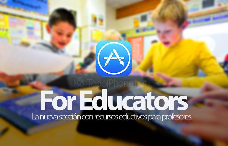 للمعلمين ، قسم App Store الجديد الذي يحتوي على موارد تعليمية للمعلمين والمعلمين 1