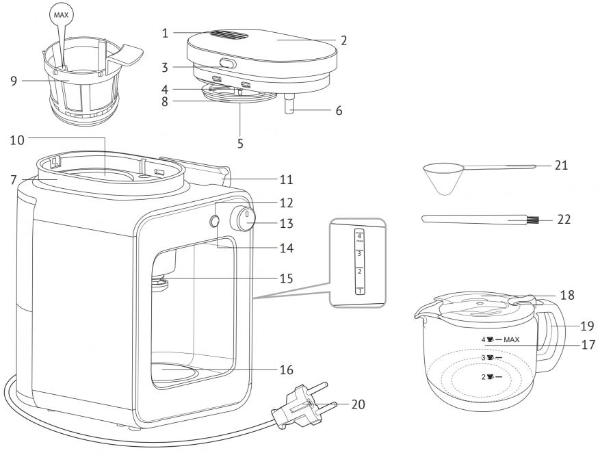 ماكينة صنع القهوة الذكية Redmond SkyCoffee M1505S-E: هل ما زلت تحضر القهوة؟ 12