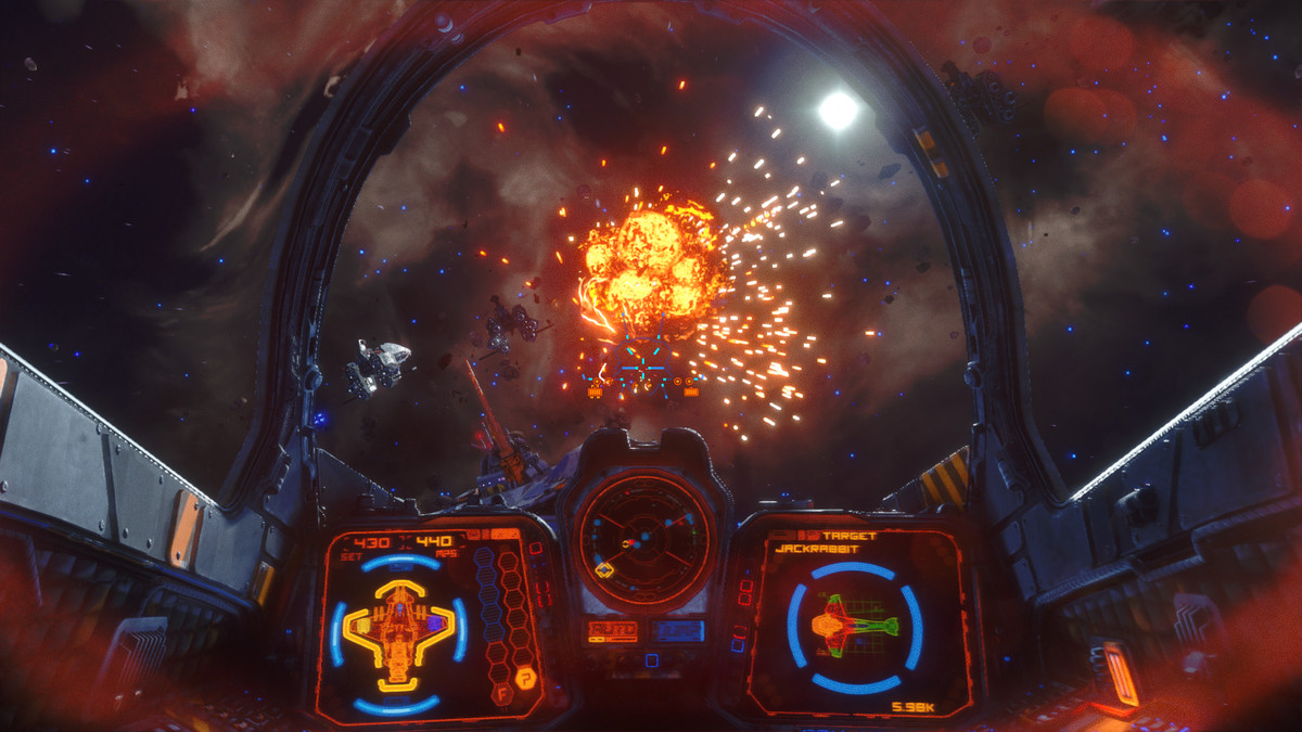 منظر من داخل قمرة القيادة في المتمردين Galaxy.