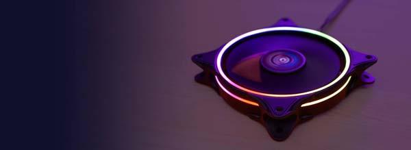 مروحة Eclipse 12 مع إضاءة RGB 1