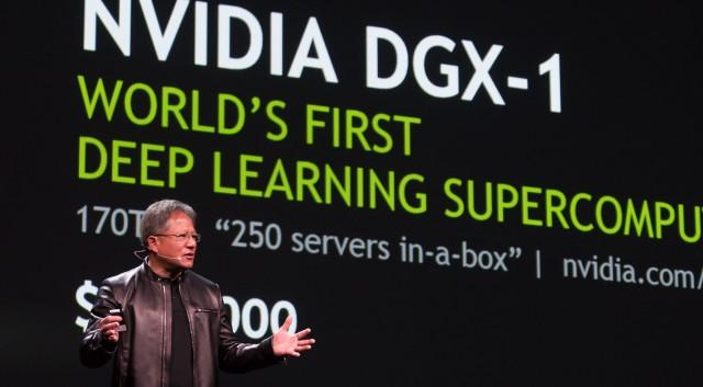 Jen-Hsun Huang من Nvidia تعلن عن DGX-1 في GTC 2016