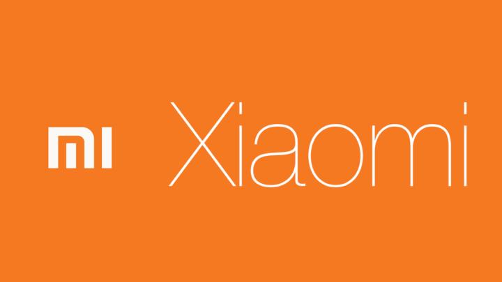 شعار XIAOMI مع خلفية برتقالية