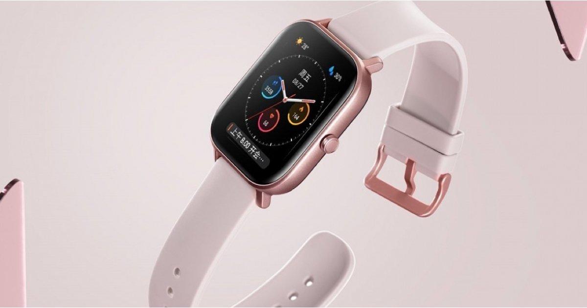 هوامي يكشف النقاب عن ساعة ذكية لـ Amazfit GTS Apple Watchمثل التصميم 1
