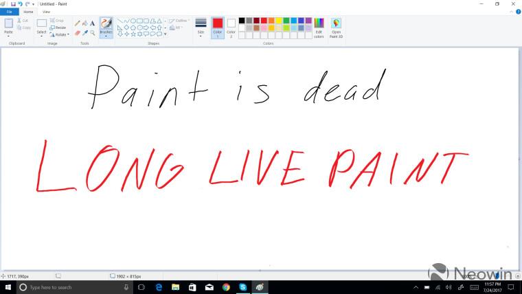 يتم ترحيل الرسام و الدفتر إلى حالة الميزة الاختيارية في Windows 10 1