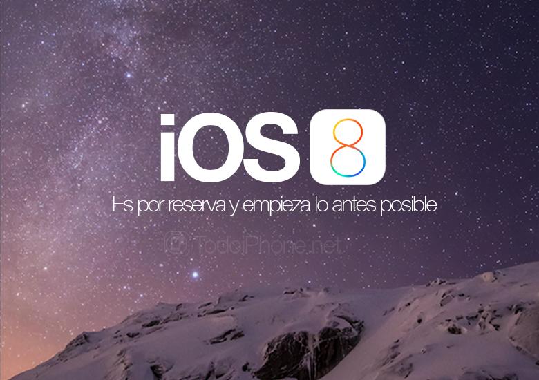 يتم تنزيل iOS 8 عن طريق الحجز لتجنب الفشل 1