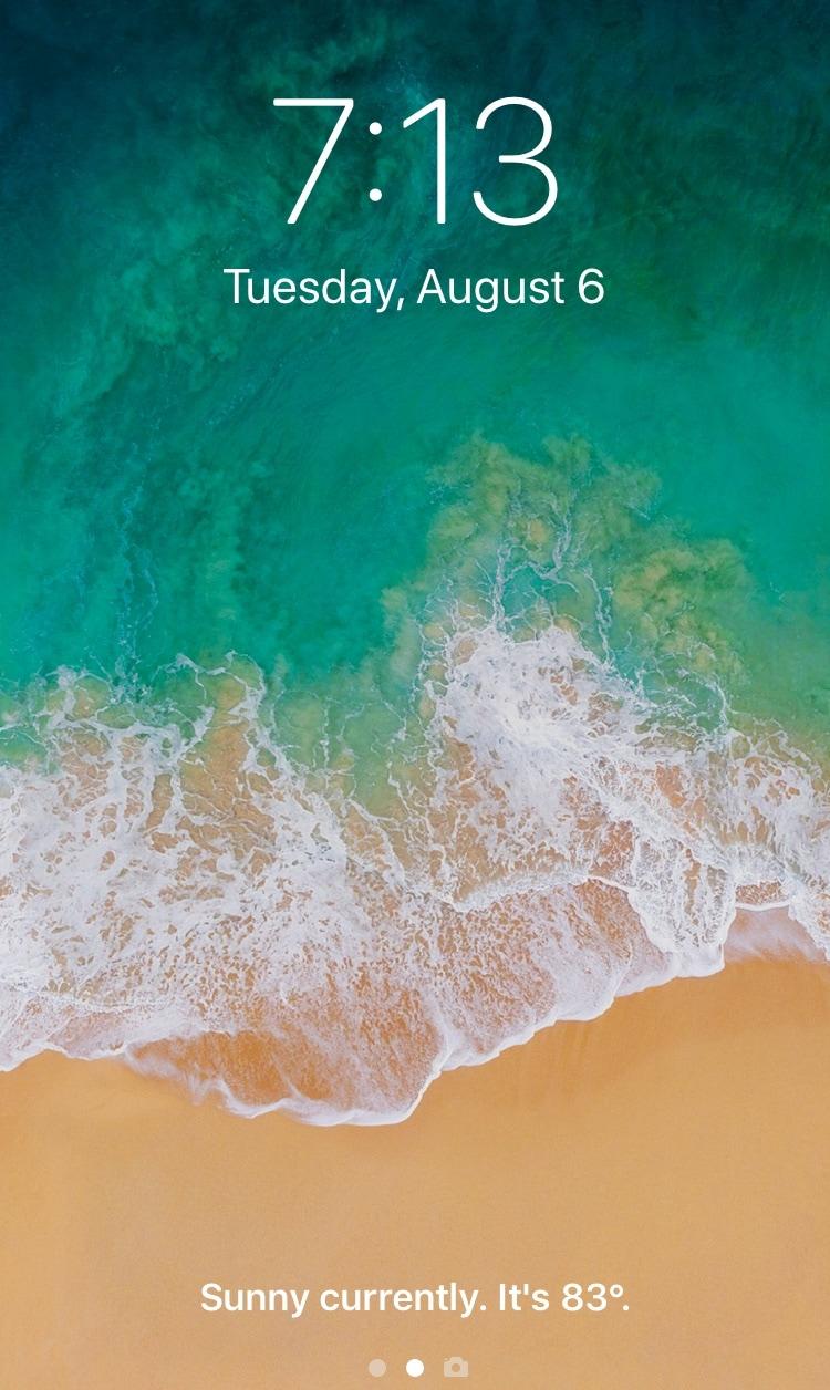 """يحل هذا القرص محل نص """"فتح سريع لفتح"""" جهاز iPhone الخاص بك بمعلومات الطقس 1"""