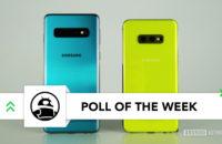 سامسونج Galaxy S10 مقابل سامسونج Galaxy S10e ظهر استطلاع أصفر أخضر