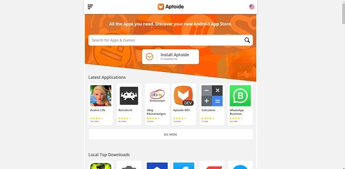 Aptoide متجر تطبيقات الويب