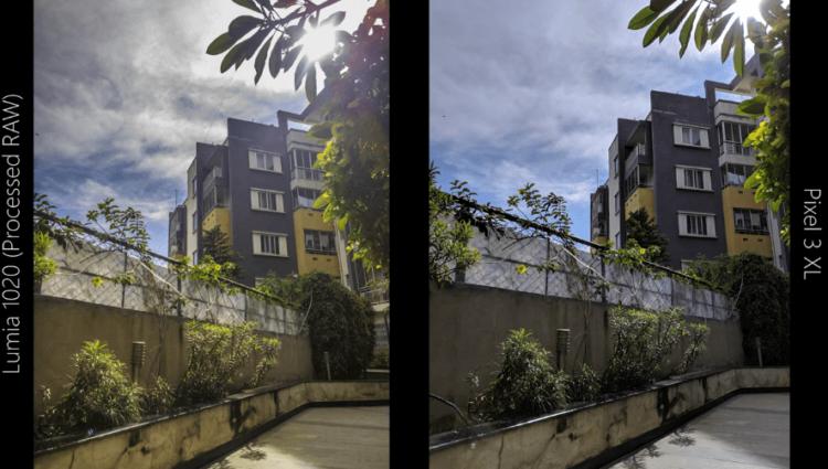 Nokia Lumia 1020 (2013) против Google Pixel 3 XL: сравните свою камеру 7