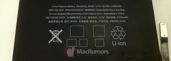 تظهر صور بطارية iPad Mini المزعومة 2