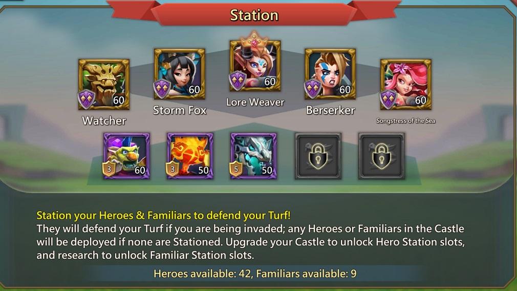 ستلعب عائلة Familiars الآن دورًا أكبر في الإستراتيجية الشائعة MMO Lords Mobile 2
