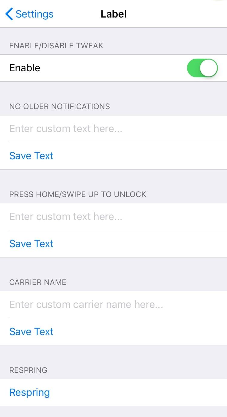 قم بتخصيص سلاسل نص نظام iOS المختلفة باستخدام Label 2