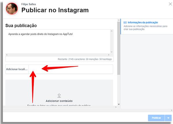 كيفية جدولة المشاركات مباشرة instagrammarclocal