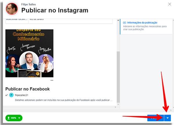 كيفية جدولة المشاركات مباشرة instagram سيتا
