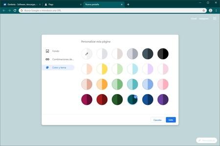 تغيير جوجل كروم الألوان