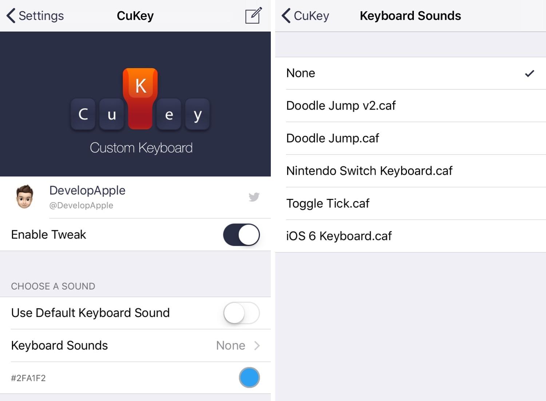 قم بتخصيص صوت ومظهر لوحة مفاتيح جهاز iPhone باستخدام CuKey 2