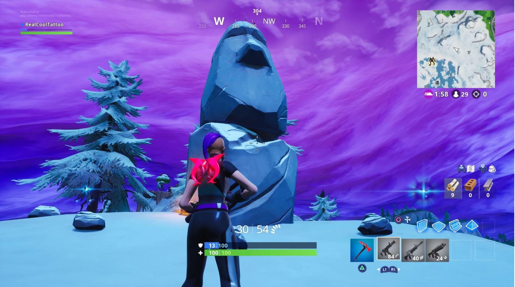 Fortnite: قم بزيارة مواقع Durrr Burger Head و Dinosaur و statue head stone 5