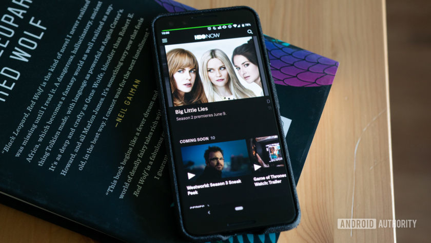 HBO يعمل الآن على شاشة Pixel 3 OLED على مكتب.