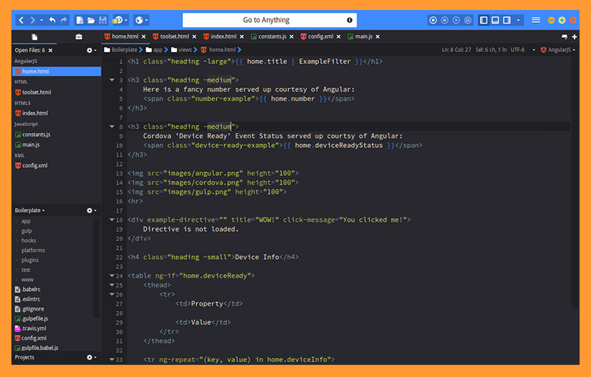 komodo edit أفضل محرر نصوص ماكنتوش ولينكس لتطوير الويب