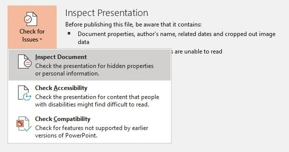 تقليل حجم Powerpoint تحرير الصور فحص الوثيقة