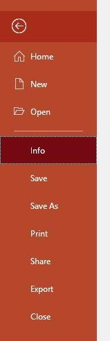تقليل حجم Powerpoint صورة التعديلات معلومات الملف