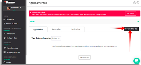 جدولة الانستغرام المشاركات bumepublicacao