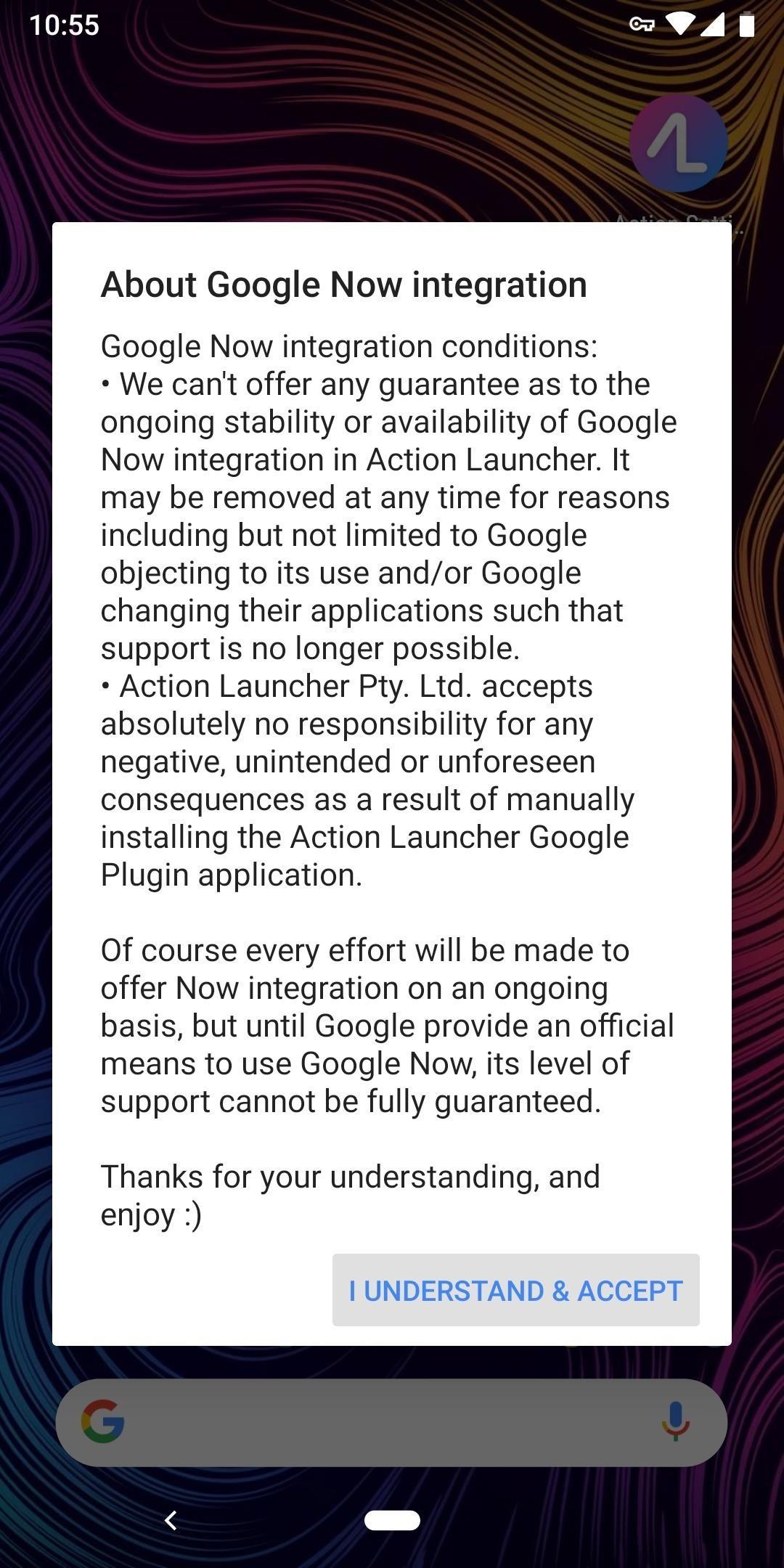 كيفية تمكين جوجل الآن التكامل في العمل المشغل