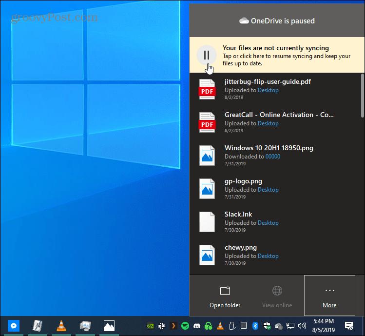 كيف يدويا وقفة ملف OneDrive مزامنة على Windows 10 1