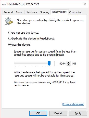 كيفية زيادة كبش مع بندريف على windows جهاز الكمبيوتر