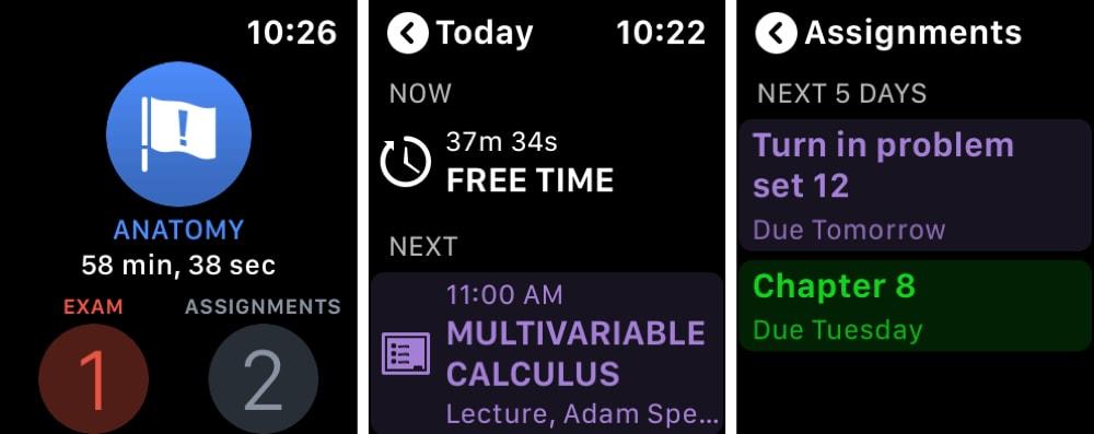 iStudiez برو مخطط الأسطوري Apple Watch