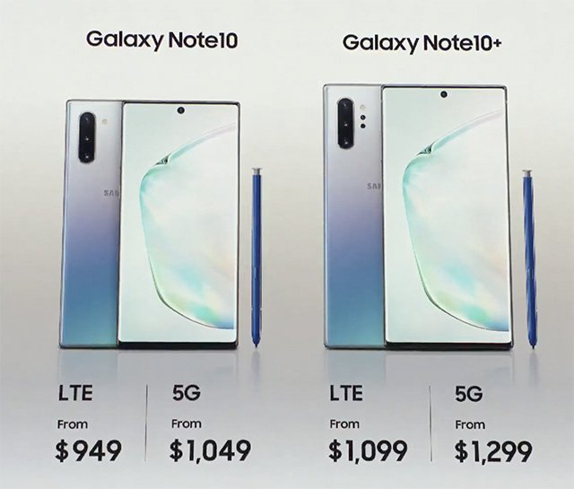 Galaxy Note  10، Note 10+ المطلقة 1