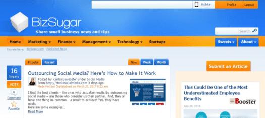 BizSugar - أخبار الأعمال الصغيرة والشبكة