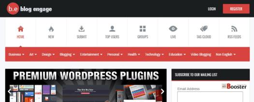 BlogEngage - مجتمع التدوين والشبكة الاجتماعية