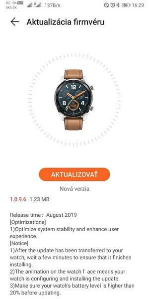 Huawei Watch GT v1.0.9.6 تحديث البرنامج الثابت: تنزيل ، سجل التغيير 1