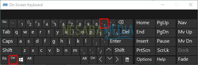 كيفية تقليل ظهور شاشة الكمبيوتر باستخدام لوحة مفاتيح على الشاشة