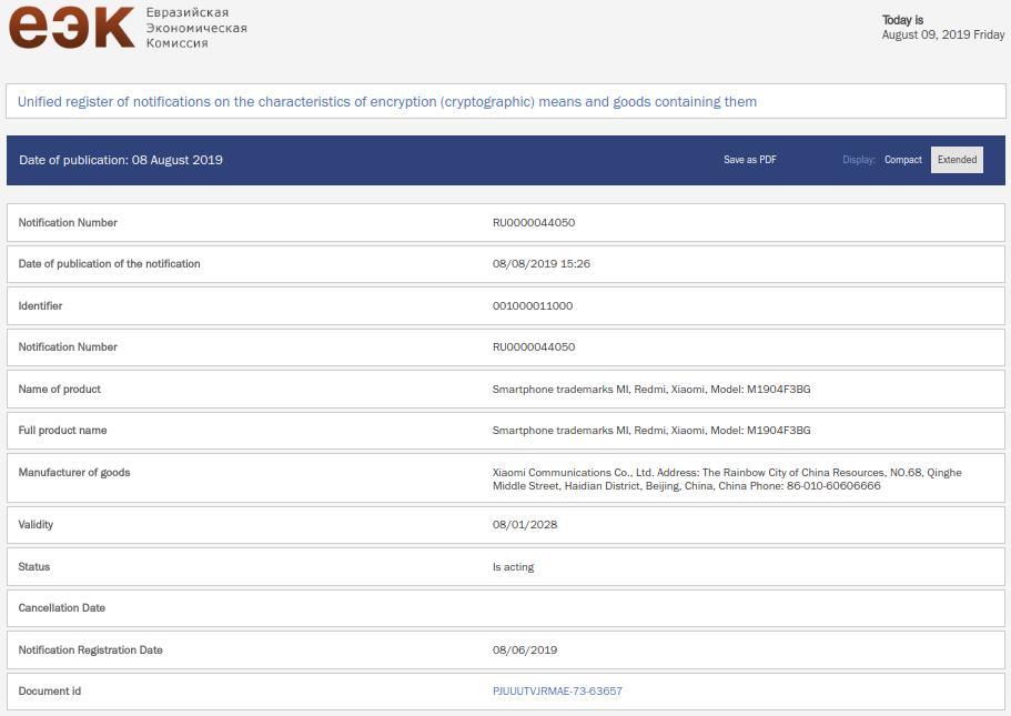 """- ▷ شهادة Xiaomi Mi CC9 معتمدة في روسيا ، أم A3 A3 أو Mi 9 Lite؟ """"- 1"""